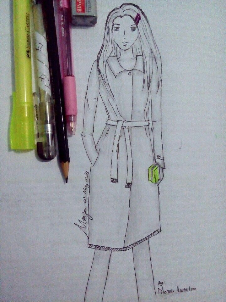 """Try to draw with """"bold"""" pen. Kali ini sy gambar pake"""