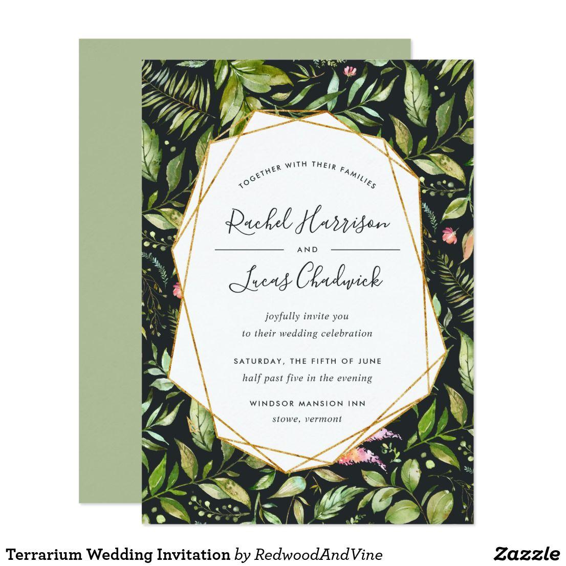 Terrarium Wedding Invitation | Invites wedding, Favors and Wedding