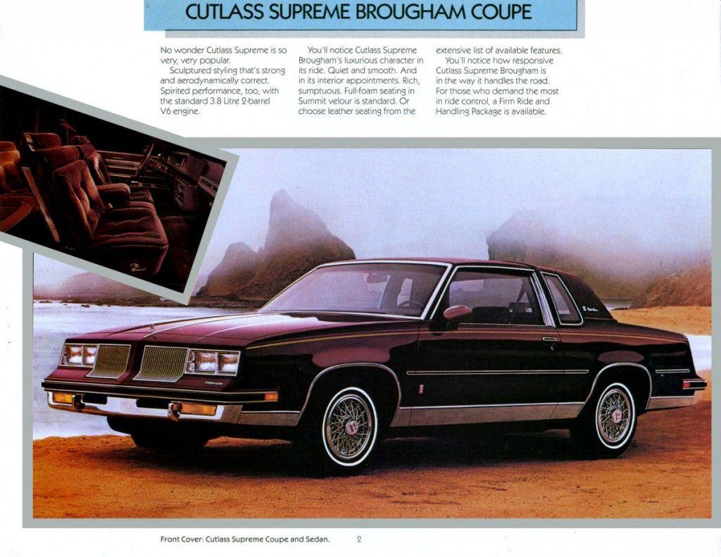 1986 oldsmobile cutlass supreme broougham coupe