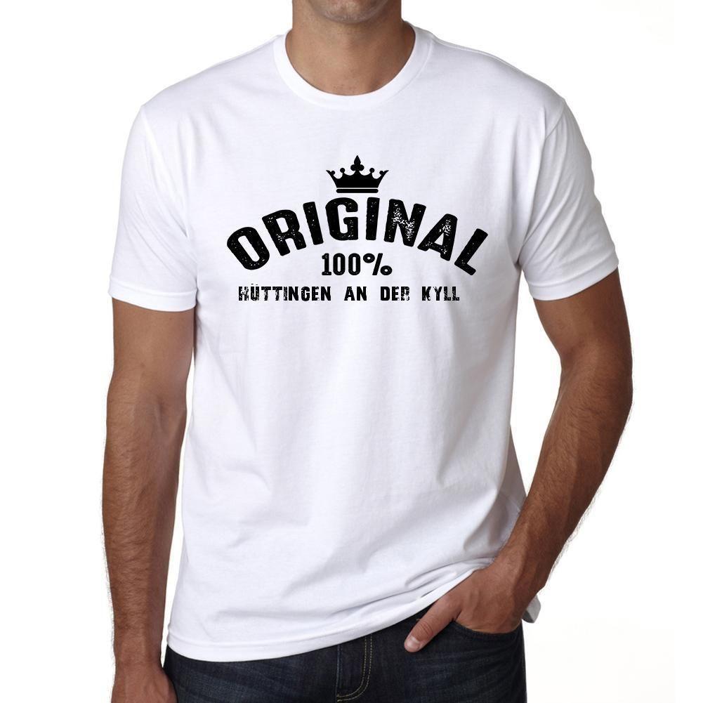 hüttingen an der kyll, 100% German city white, Men's Short Sleeve Rounded Neck T-shirt