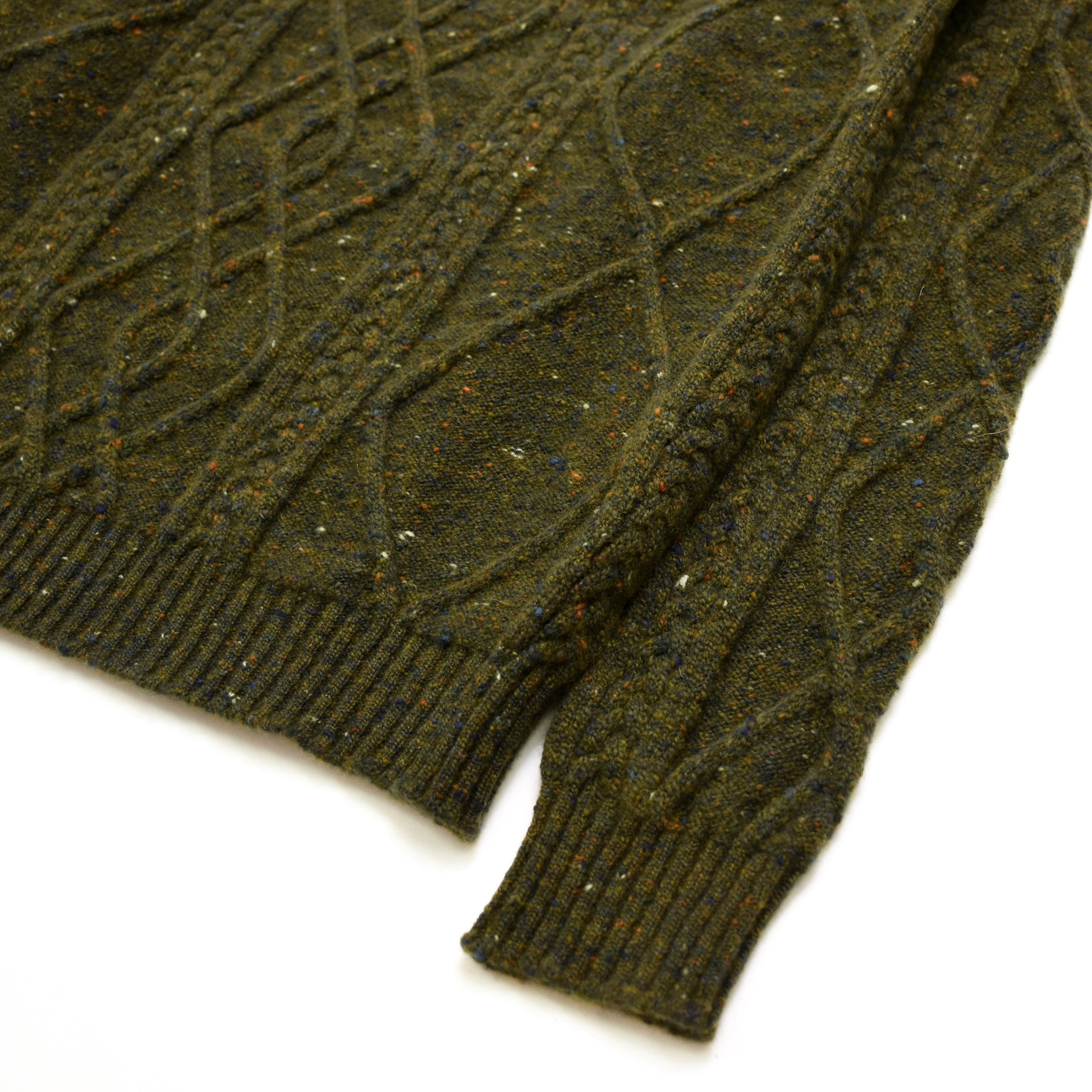 301c47b111e6 Fisherman Sweater in Cashmere Blend Donegal Tweed by American Trench ...