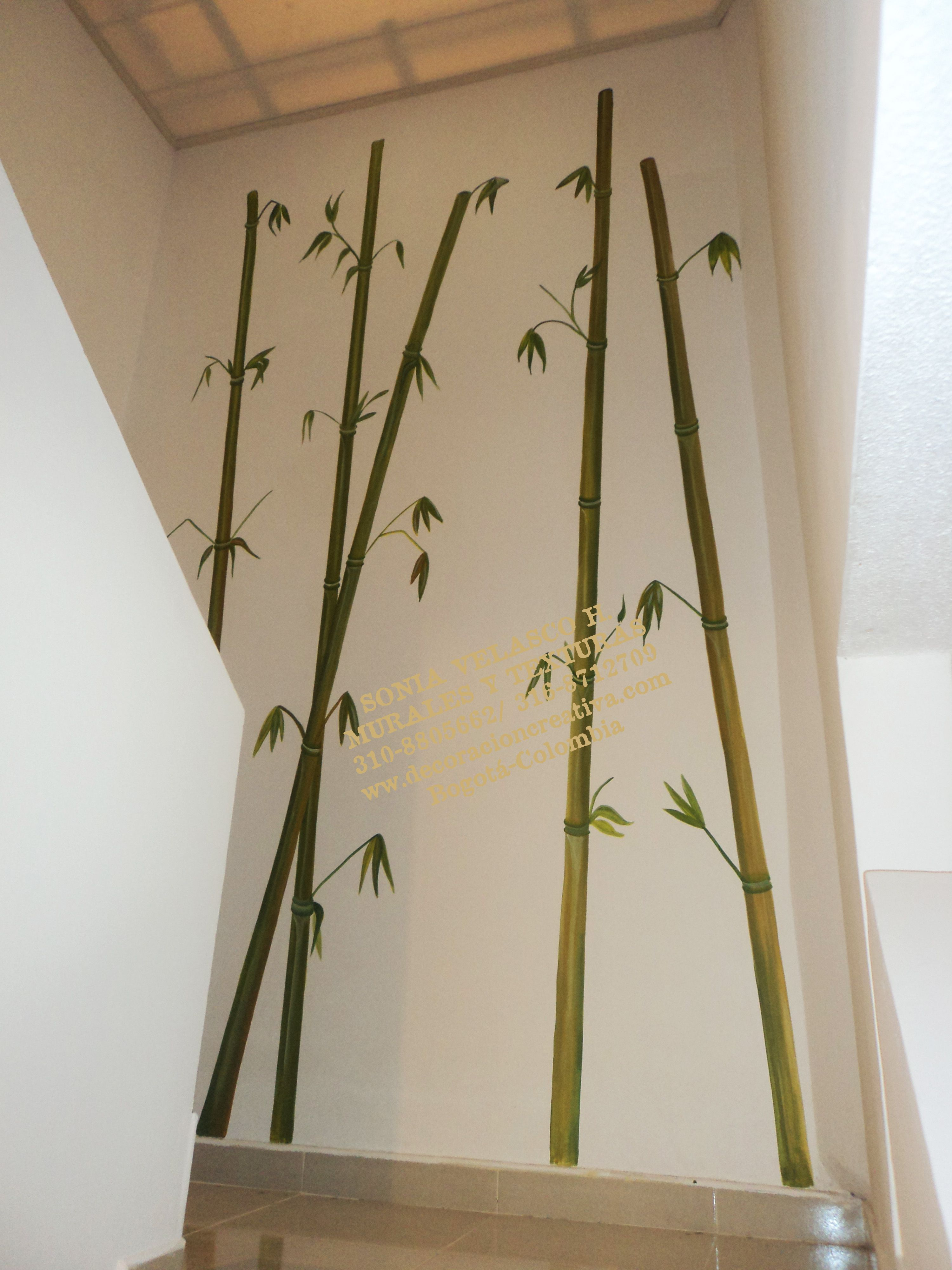 Bambu Pintados Sobre La Pared En 2019 Decoración De Unas