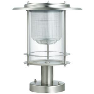 Executive Stainless Steel Deck Post Solar LED Light-M23004 at The Home Depot