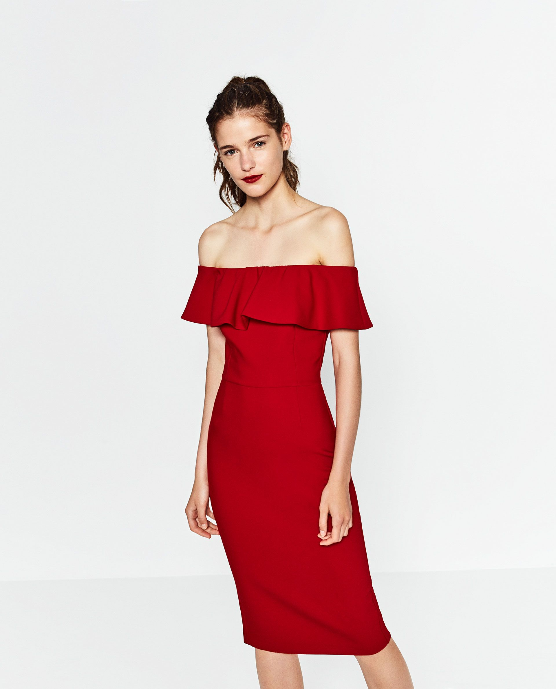 ea2811ab925a Image 2 of OFF-THE-SHOULDER DRESS from Zara