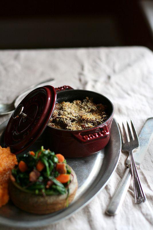Local Milk | pork confit & black eyed pea cassoulet with honeycrisp apple & sweet potato mash