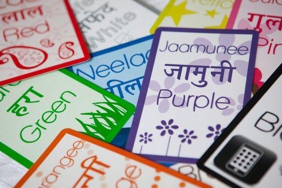 Hindi Flash cards | Hindi | Color flashcards, Flashcards for