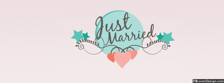 Just Married Facebook Covers | FBcoverdesign.com