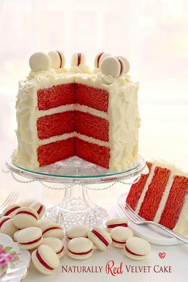 Naturally Red Velvet Cake with Cream Cheese Frosting Recipe Red