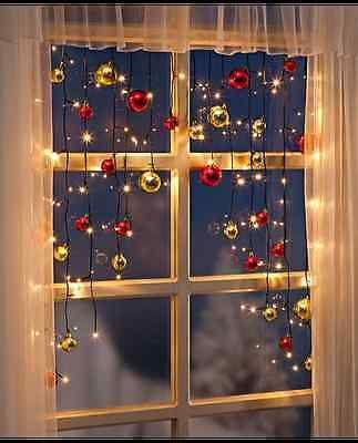 Details Zu Bunt Led Lichterkette Stern Vorhang Fenster Baum