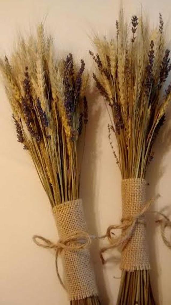 Séchées de blé et de Bouquets de lavande Français – parfait pour les mariages