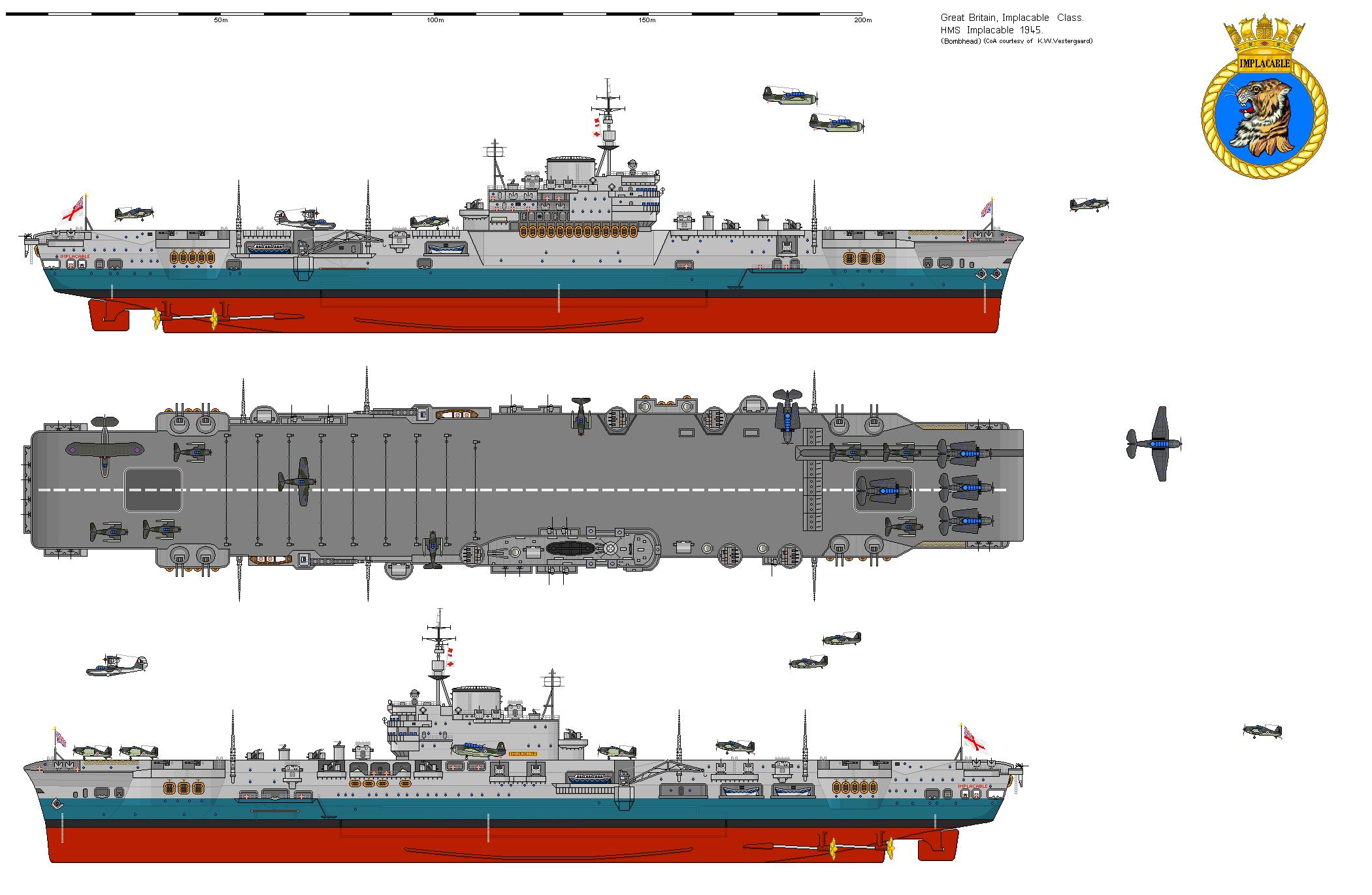 Photo Cvindefatigableclassimplacable Png Navy Ships Royal Navy Ships Aircraft Carrier