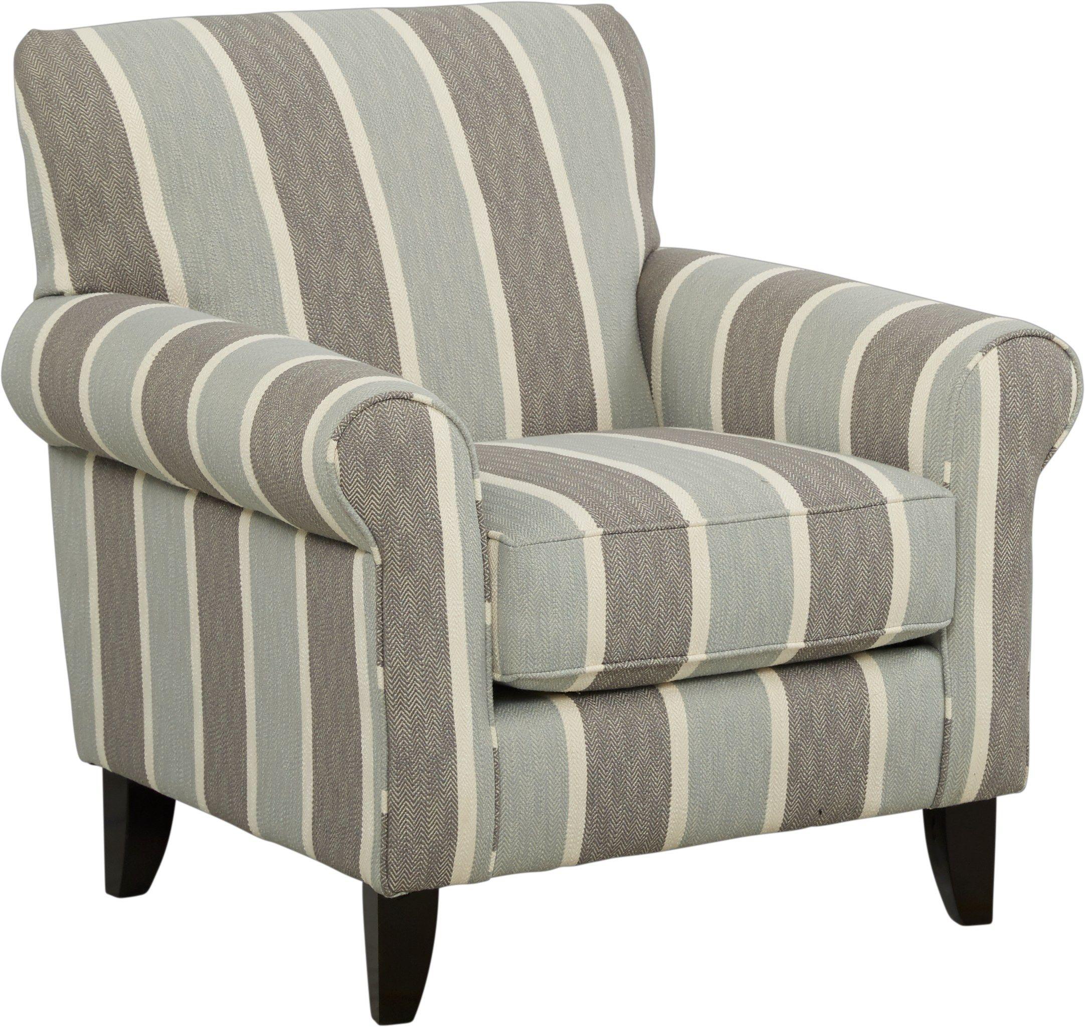 Pennington Blue Striped Accent Chair Stripe Accent Chair Accent Chairs For Living Room Furniture