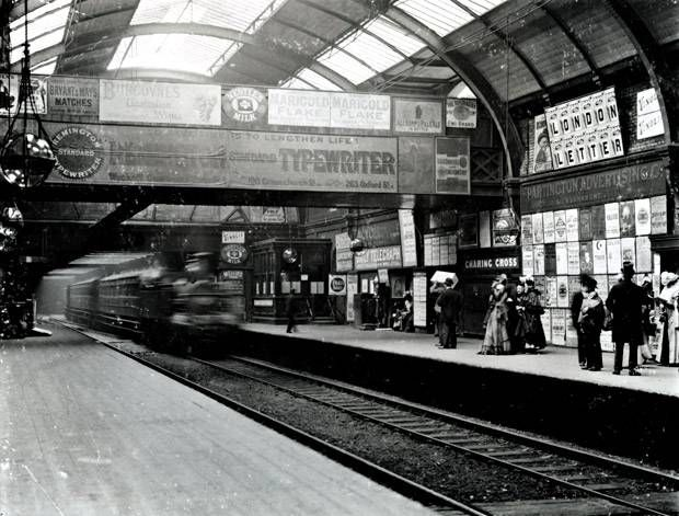Charing Cross (now Embankment) Underground station, 1894 ...