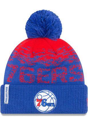 9b0e254370d New Era Philadelphia 76ers Blue NE16 Sport Knit Hat