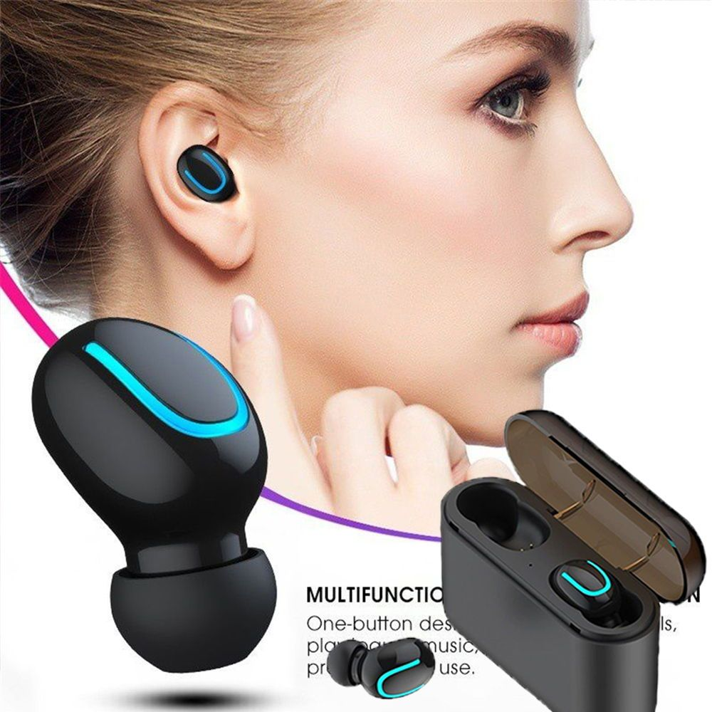 Us 9 58 49 Off Wireless Earphone Mini Tws Bluetooth Headset Hifi Music Stereo In Ear Earbuds With In 2020 Bluetooth Earphones Wireless Earphones Bluetooth Headset