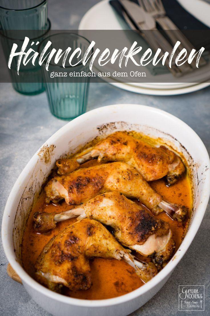 Rezept: Hähnchenkeulen aus dem Ofen – gernekochen.de  – Grillen ● Barbecue ● BBQ