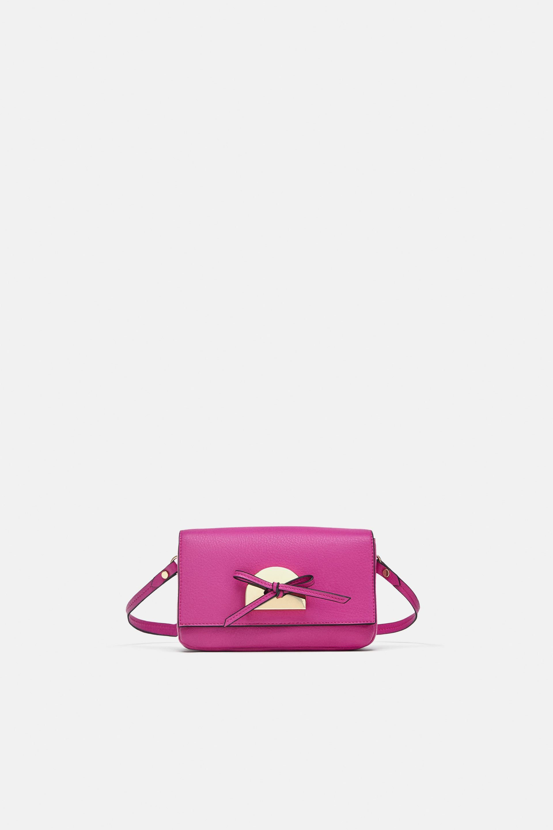 e64aa0d64c Image 1 of MINI CROSSBODY BAG WITH BOW from Zara | B A G S in 2019 ...