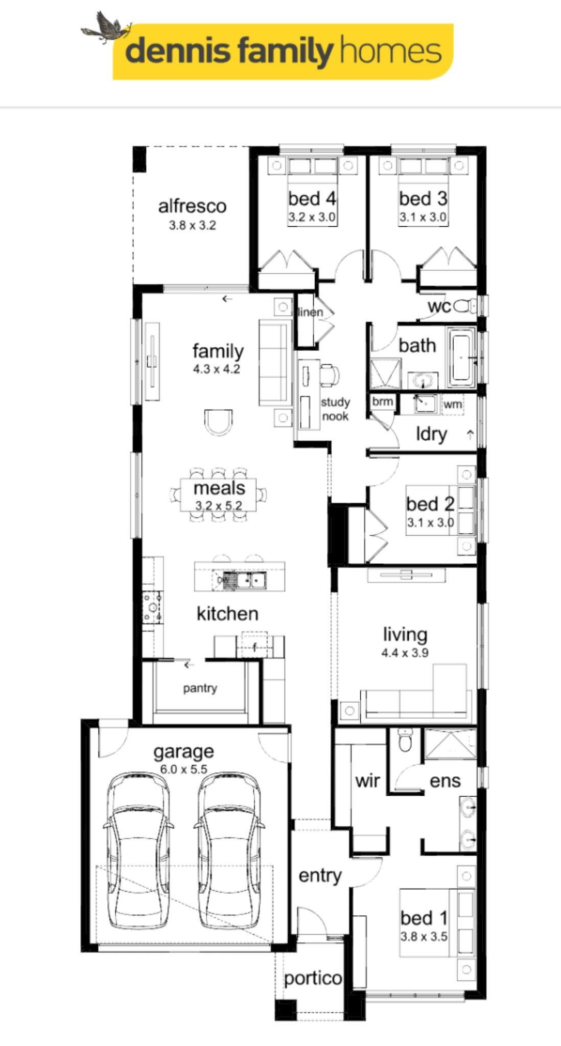 Dennis Family Homes Olinda 263 House Floor Plans Home And Family House Flooring