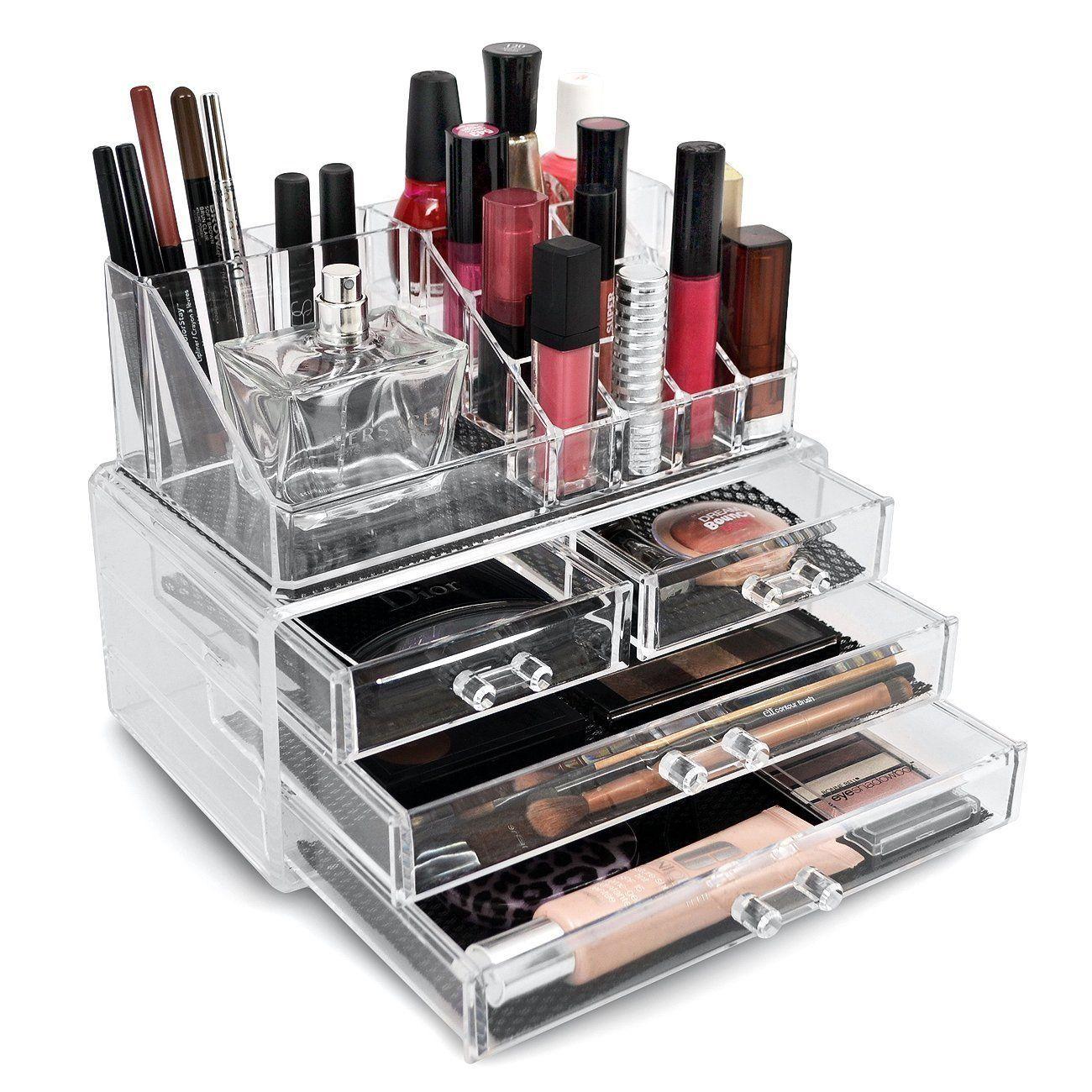Best Makeup Organizer Ideas Acrylic makeup organizers Display