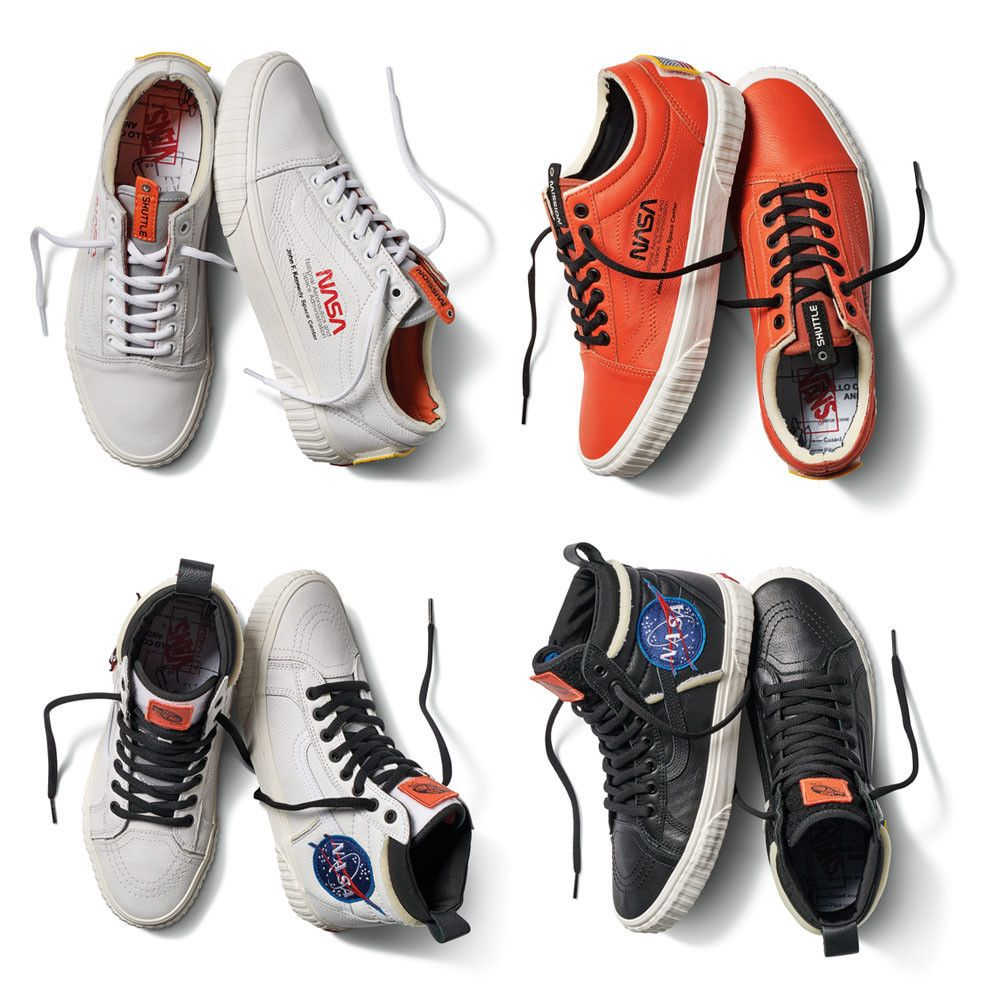 Nasa Vans   Mens casual leather shoes