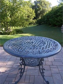 Oakland Living Mississippi Round Outdoor Dining Table in Verdi Grey