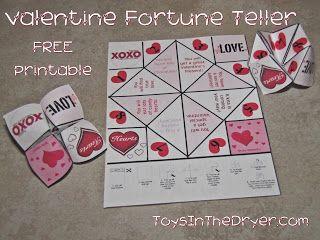 Valentine Fortune Teller Free Printable Fortune Teller Free
