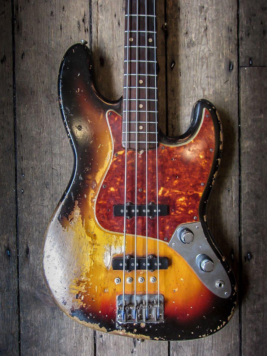 Ex Pino Palladino Fender Jazz Bass Stack Knob 1961 Vintage With Gibson Ripper Wiring Diagram Further Es 335 Qui In Musical Instruments Guitars Basses Ebay