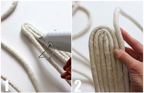 Copridivano shabby ~ Tutorial per creare un cesto con la corda lo stile shabby chic