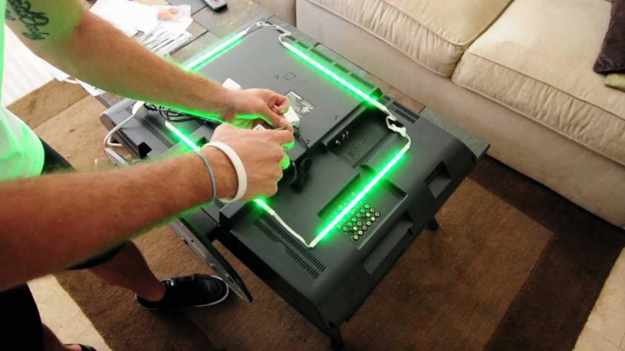 "LED TV Backlighting Installation using ""plug and play"