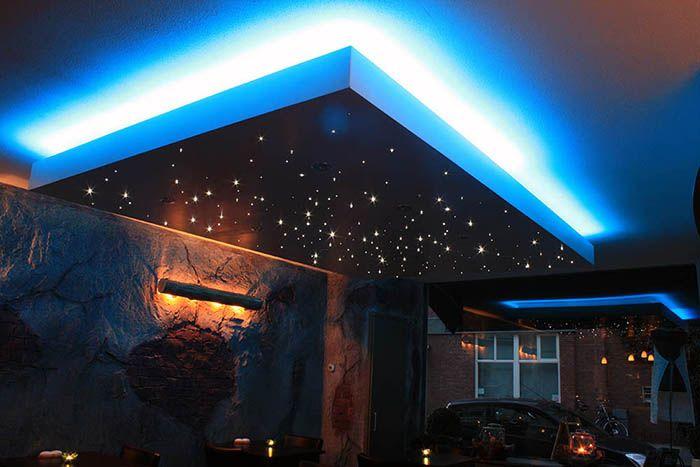 Verlaagd plafond met sterrenhemel | Badkamer | Pinterest | Salons ...
