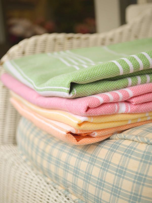 Cotton Stripe Peshtamel Towel www.sallybourneinteriors.co.uk