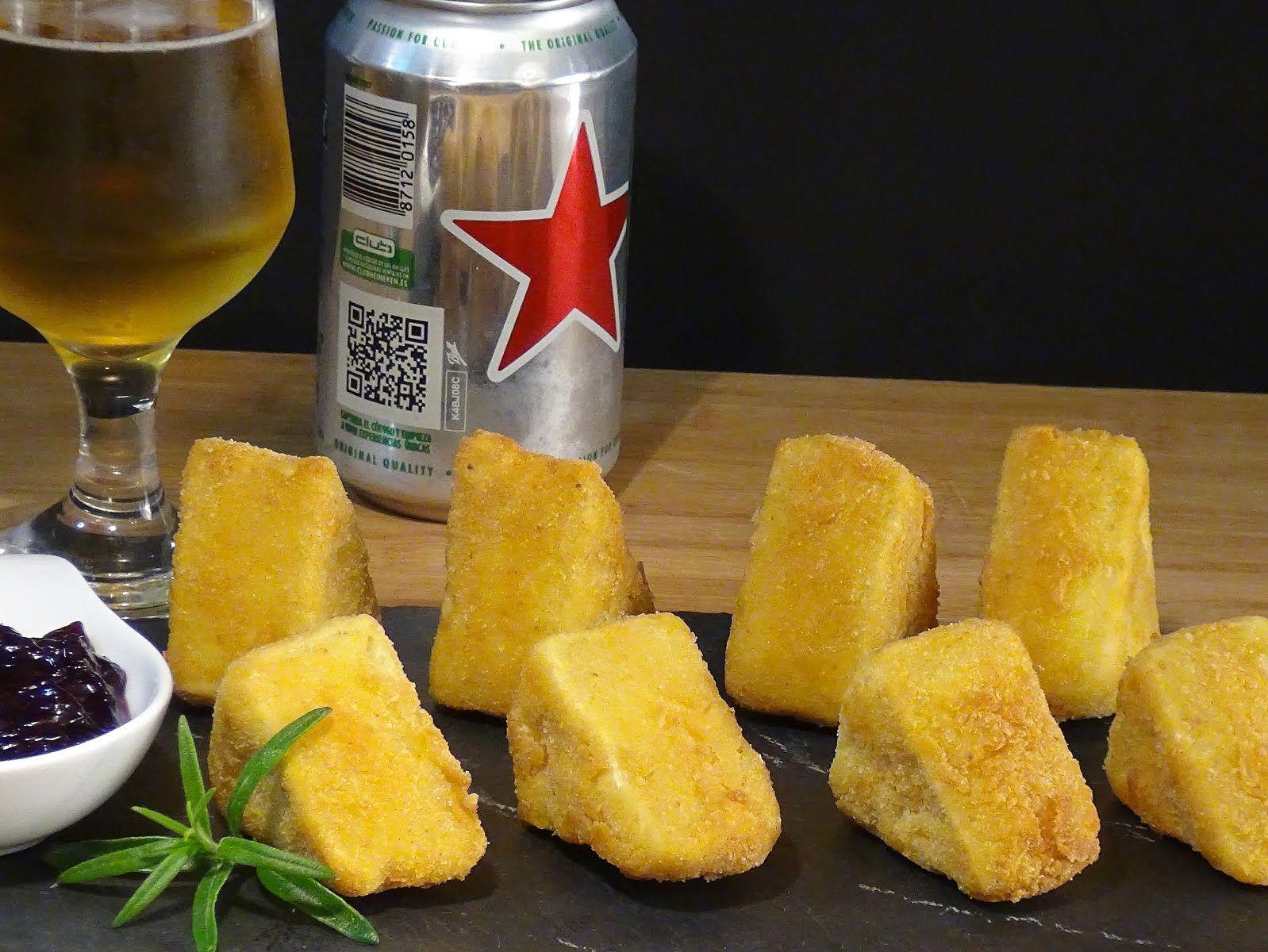 Queso rebozado y frito, un aperitivo o entrarte que les sorprenderá por su textura y sabor . Receta en el Blog: http://lacocinadelolidominguez.blogspot.com.es/2015/04/queso-rebozado-y-frito.html  . Videoreceta en You Tube: https://www.youtube.com/watch?v=tp2UUStRdF0