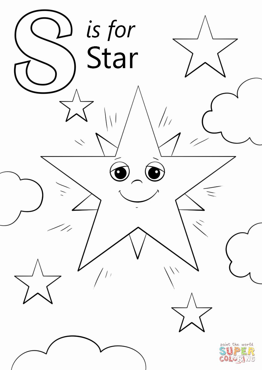 Letter S Coloring Page Awesome Letter S Is For Star Super Coloring Alphabet Coloring Pages Star Coloring Pages Alphabet Coloring