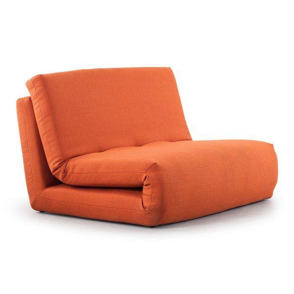 Polygon Modern Mandarin Orange Sleeper Chair chair