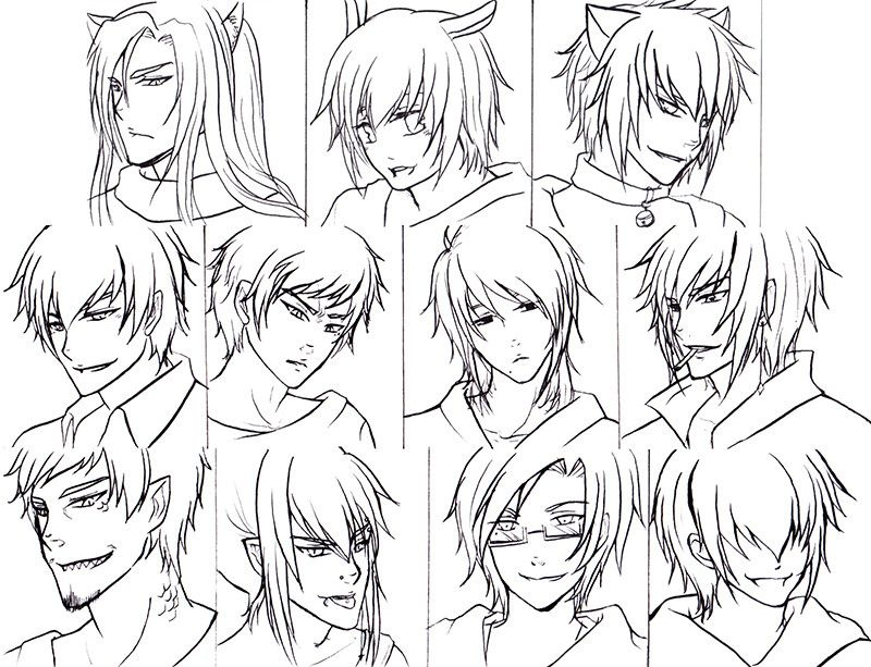 Top 20 Anime Boy Hairstyles Anime boy hair, Anime