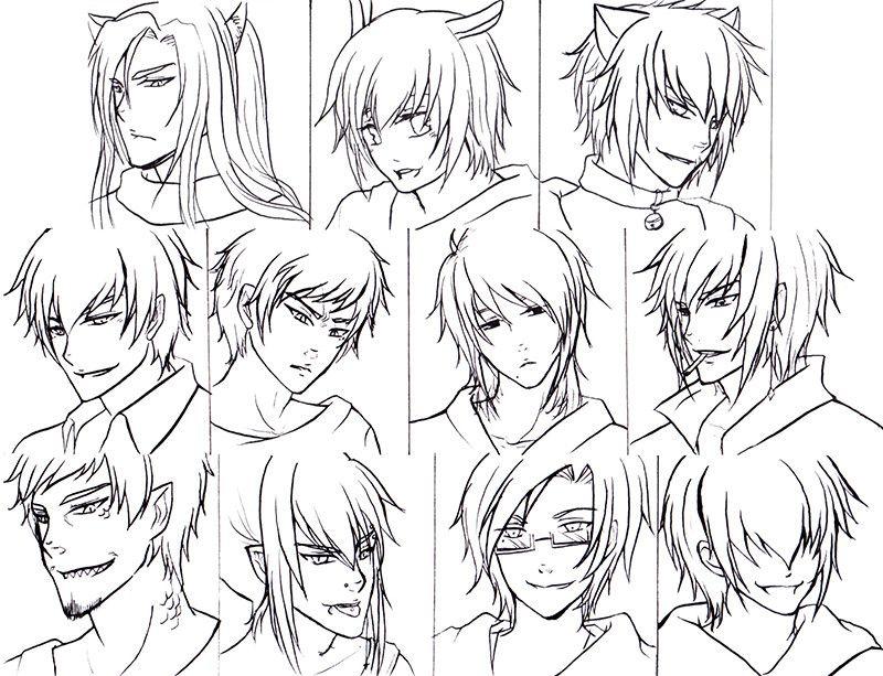 Top 20 Anime Boy Hairstyles Anime boy hair, Anime