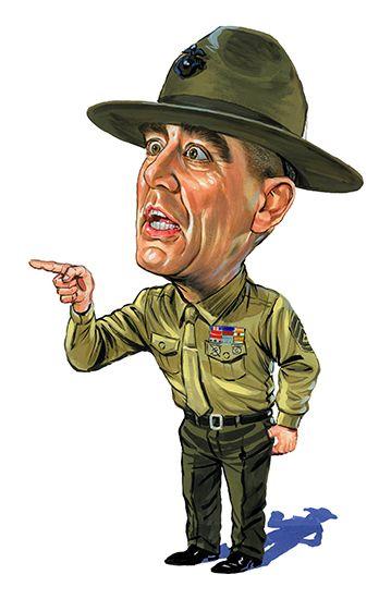 R Lee Ermey As Gunnery Sergeant Hartman In Full Metal