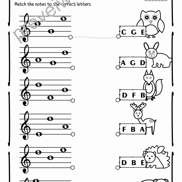 49 Treble Clef Notes Worksheet in 2020 (With images
