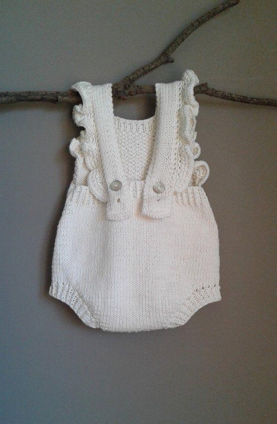 Knitting Pattern Spring Duo Baby Romper Pdf Knitting
