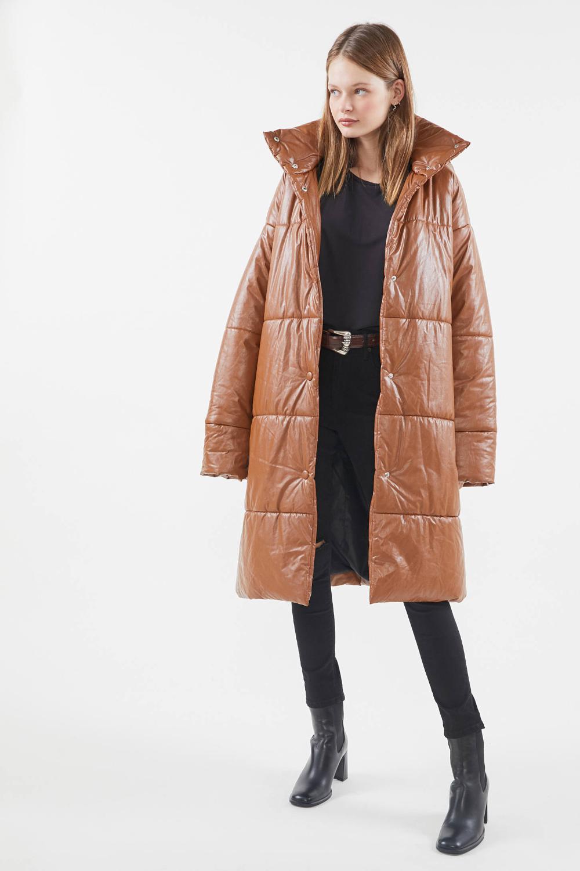 Uo Oversized Faux Leather Puffer Coat Puffer Coat Coat Outerwear Trends [ 1500 x 1000 Pixel ]