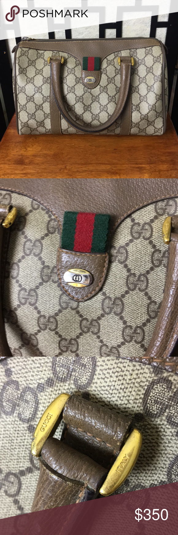 58b492c8c4ca Spotted while shopping on Poshmark: Vintage Gucci Accessory Boston bag! # poshmark #fashion #shopping #style #Gucci #Handbags
