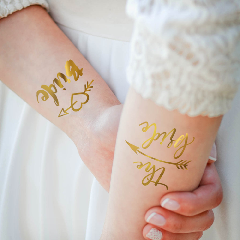 Bachelorette Party Tattoos Hen/'s Night Temporary Tattoos Team Bride Custom