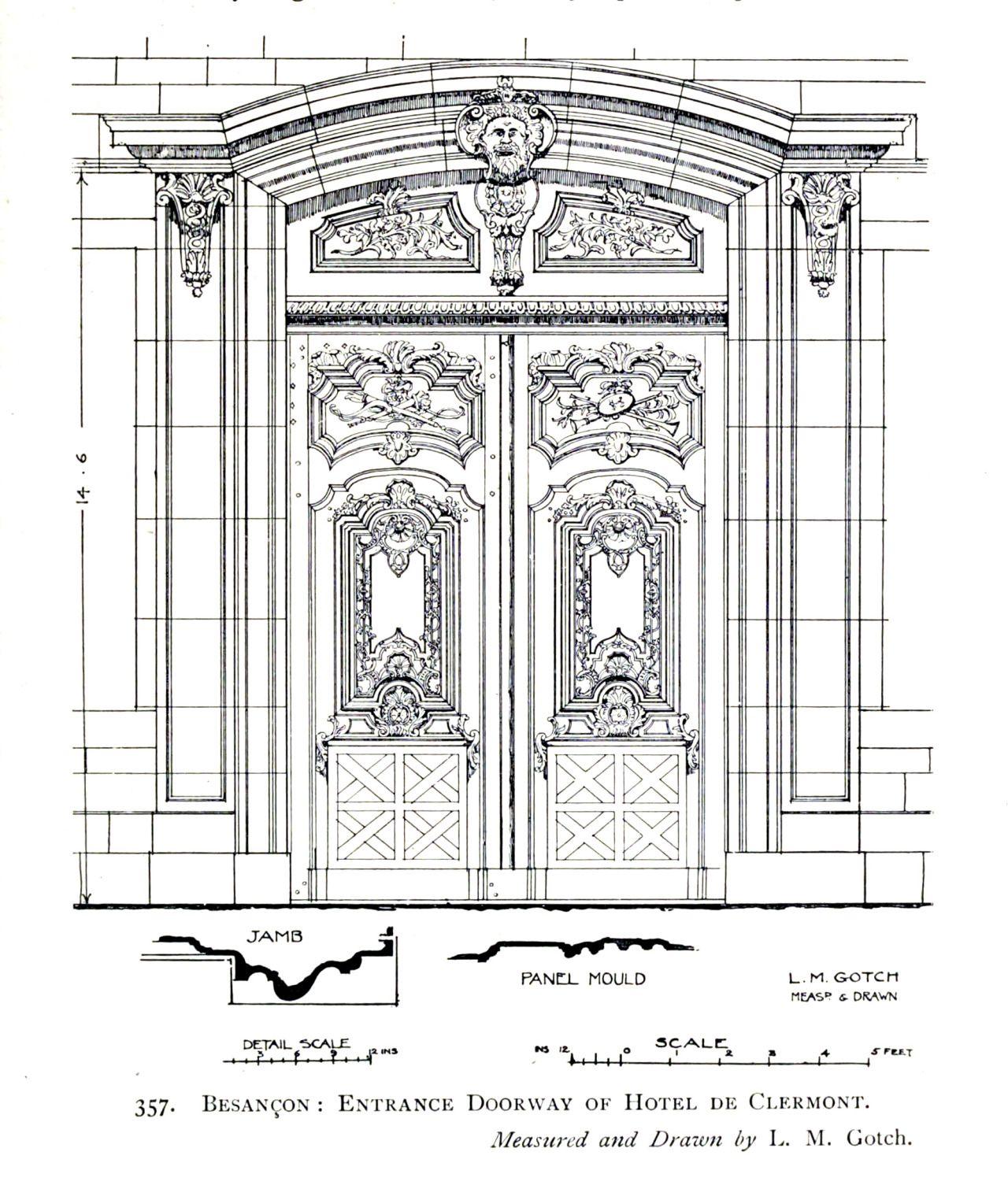 Картинки и чертежи деревянных дверей