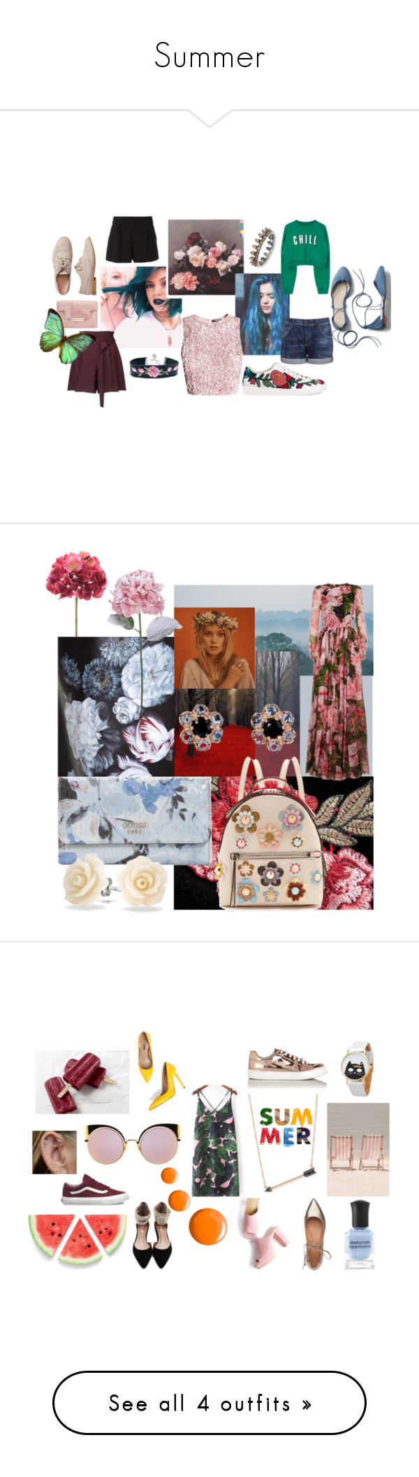 """""""Summer"""" by dakshapathak on Polyvore featuring Boutique Moschino, Miss Selfridge, Citizens of Humanity, Gucci, Gap, Annoushka, Bodas, Dolce&Gabbana, Alexander McQueen and Fendi"""