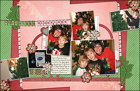 Christmas Blessings, Be Merry by Dianne Rigdon, November, 2011