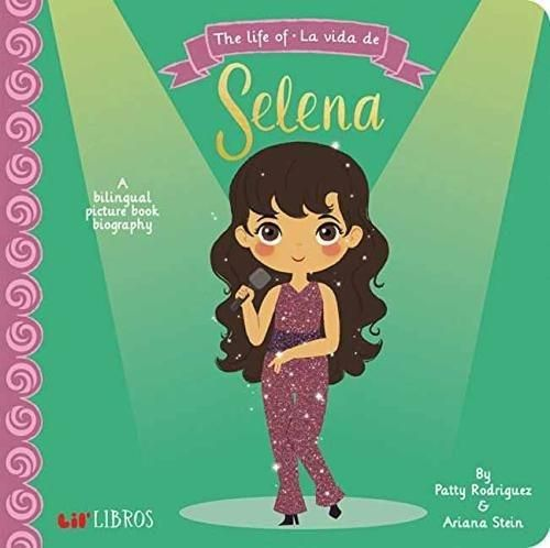 """A Lil' Libros Bilingual Biography Selena's career started at a young age when she became lead singer in her family's band, Selena Y Los Dinos. She went on to become an award-winning artist with albums like Amor Prohibido and Selena Live, and earned the title """"Queen of Tejano Music. Your little one will learn that Selena's favorite food was pizza and that the most important people in the world to her were her familia and fans."""