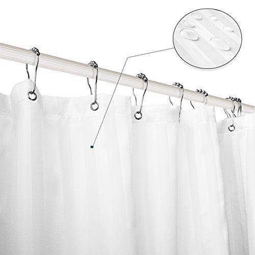 Subrtex Bathroom Waterproof Polyester Stripe Shower Curta ...