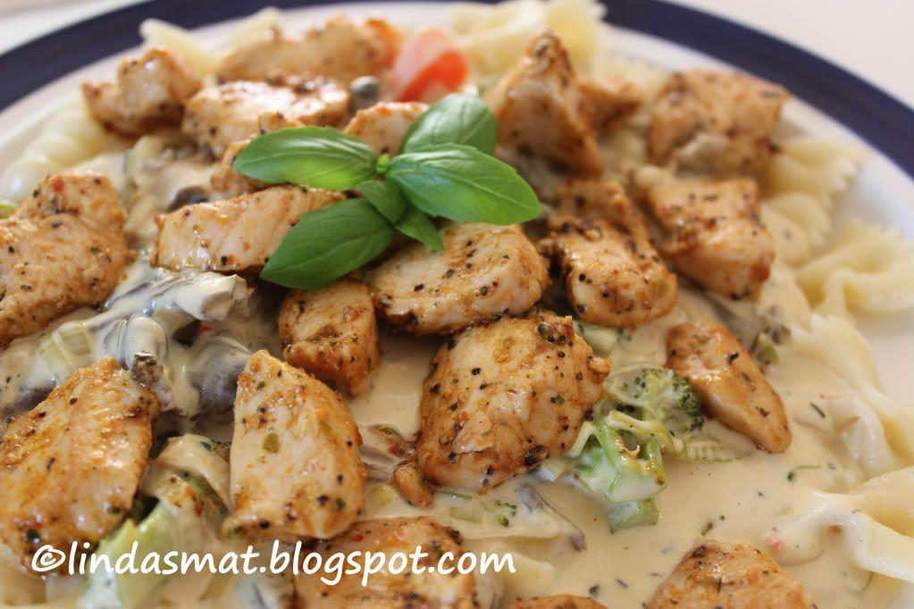 kyckling ädelost pasta