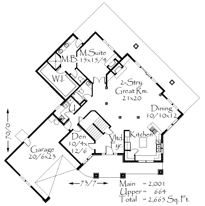 M 2665 House Plan Lodge House Plans House Plans Bungalow Floor Plans How To Plan