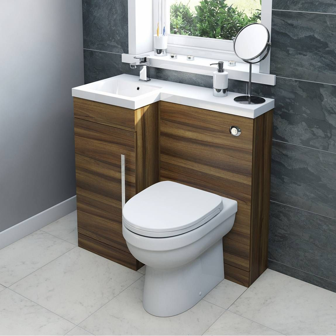 Bathroom Accessories Victoria Plumb myspace walnut combination unit lh with energy btw - victoria